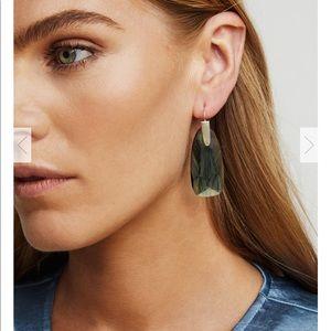 Kendra Scott Maize Gold Drop Clear earrings 💛